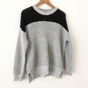 Urban Outfitters Sparkle + Fade Colorblock Sweater